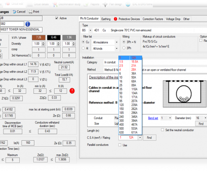 electrical wire size calculator software ElectricalOM, Electrical Design, Circuit Calculation Software 10 Brilliant Electrical Wire Size Calculator Software Ideas