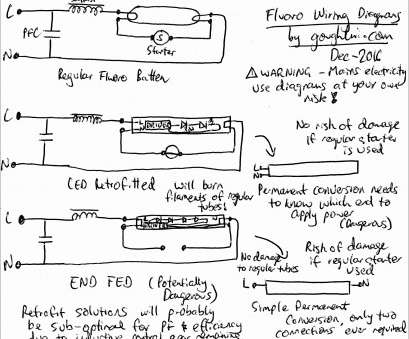 Fluorescent Ballast Starter Wiring Diagram New Ballast Wiring Diagram T8 Lovely Wiring Diagram, Led Tubes Best Canb2016 Special 3, Muller Pictures