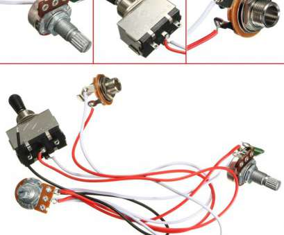 Guitar Toggle Switch Wiring Creative Electric Guitar Wiring Harness, 3, Toggle Switch 1 Volume 1 Tone 500K Pot Solutions