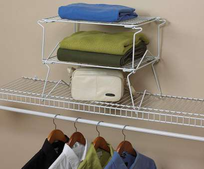 hanging steel wire shelf for laundry rooms and closets in classic white Amazon.com: ClosetMaid 71082 18-Inch Wide Stacking Shelf, Wire Shelving, White: Home & Kitchen Hanging Steel Wire Shelf, Laundry Rooms, Closets In Classic White Creative Amazon.Com: ClosetMaid 71082 18-Inch Wide Stacking Shelf, Wire Shelving, White: Home & Kitchen Solutions