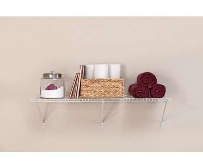 hanging steel wire shelf for laundry rooms and closets in classic white ClosetMaid 48, W x 16, D Steel White All-Purpose Shelf Kit Hanging Steel Wire Shelf, Laundry Rooms, Closets In Classic White Perfect ClosetMaid 48, W X 16, D Steel White All-Purpose Shelf Kit Collections