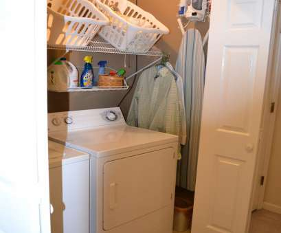 hanging steel wire shelf for laundry rooms and closets in classic white Hold on to Your Hats:, Laundry Closet Hanging Steel Wire Shelf, Laundry Rooms, Closets In Classic White Creative Hold On To Your Hats:, Laundry Closet Images