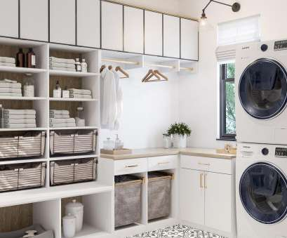 hanging steel wire shelf for laundry rooms and closets in classic white Laundry Room Cabinets & Storage Ideas by California Closets Hanging Steel Wire Shelf, Laundry Rooms, Closets In Classic White Most Laundry Room Cabinets & Storage Ideas By California Closets Photos