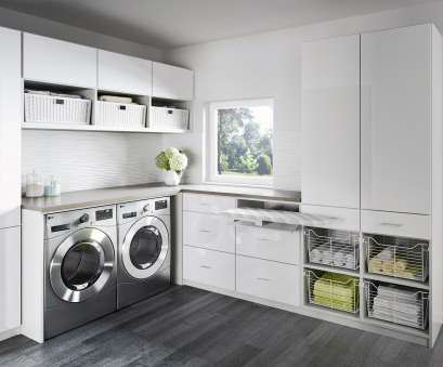 hanging steel wire shelf for laundry rooms and closets in classic white Laundry Room Cabinets & Storage Ideas by California Closets Hanging Steel Wire Shelf, Laundry Rooms, Closets In Classic White Fantastic Laundry Room Cabinets & Storage Ideas By California Closets Collections