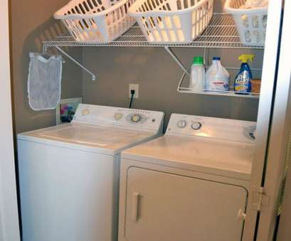 hanging steel wire shelf for laundry rooms and closets in classic white Short on Space in, Laundry Room?, One of These Simple Ideas Hanging Steel Wire Shelf, Laundry Rooms, Closets In Classic White Practical Short On Space In, Laundry Room?, One Of These Simple Ideas Collections