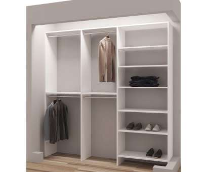hanging steel wire shelf for laundry rooms and closets in classic white TidySquares Classic White Wood 75-inch Reach-in Closet Organizer (White) (Chrome) Hanging Steel Wire Shelf, Laundry Rooms, Closets In Classic White Nice TidySquares Classic White Wood 75-Inch Reach-In Closet Organizer (White) (Chrome) Solutions