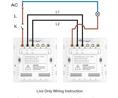 home automation light switch without neutral wire Option 3: Connect, Yoswit 3-way switches, 2-wire (without neutral wire) Home Automation Light Switch Without Neutral Wire Simple Option 3: Connect, Yoswit 3-Way Switches, 2-Wire (Without Neutral Wire) Photos