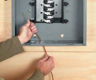 home electrical wiring grounding Route, ground wire through a small 3⁄8