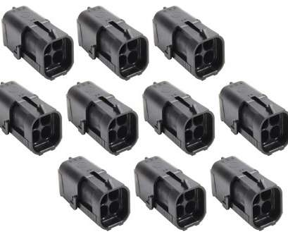 How Many Amps 24 Gauge Wire Popular Allstar Performance 76297-10 Weather Pack Housing, Square, Male, 4 Wire, 16-24 Gauge, 12V, 20 Amp,, Of 10 Solutions