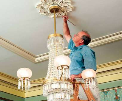 how to install a ceiling light medallion Steve Jordan touches up a medallion in, double parlors of, Landmark Society of Western How To Install A Ceiling Light Medallion Popular Steve Jordan Touches Up A Medallion In, Double Parlors Of, Landmark Society Of Western Photos