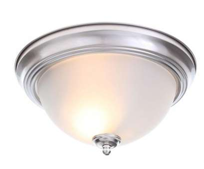 How To Install A Ceiling Mount Light Fixture Best 2-Light, Rubbed Bronze Flushmount With Frosted Glass Shade (2-Pack)-EFG8012A/ORB -, Home Depot Collections