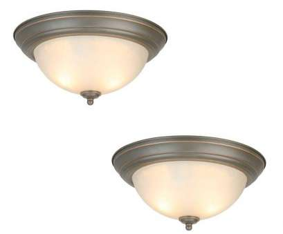 How To Install A Ceiling Mount Light Fixture Most Commercial Electric 13, 2-Light, Rubbed Bronze Flushmount With Frosted Glass Shade (2-Pack) Solutions