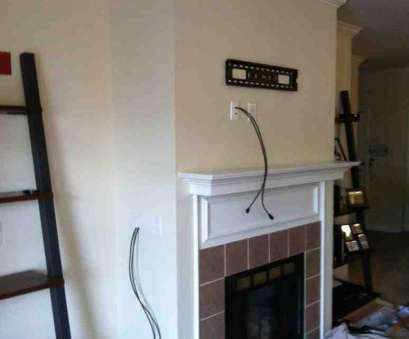 how to install electrical outlet over fireplace TV Installation over a fireplace with wires concealed in, wall, electrical outlet installed in, back of, TV 13 Practical How To Install Electrical Outlet Over Fireplace Ideas