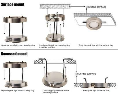 how to install recessed puck lights TORCHSTAR, Under Cabinet Lighting Kit: 3pcs 3W 780lm, Puck Lights ( Recessed & Surface Mount) w/Power Adapter, Accessories, Kitchen, Bookshelf 8 Best How To Install Recessed Puck Lights Images