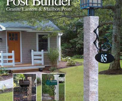 how to wire a granite light post Granite Lantern & Mailbox Posts, Miller Fence How To Wire A Granite Light Post New Granite Lantern & Mailbox Posts, Miller Fence Photos