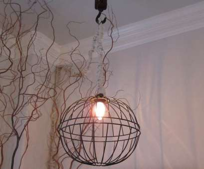 how to wire a hanging light fixture It seems as if I've been obsessed with updating, lighting in my home lately. I made this metal hanging light recently, of garden bask 12 Best How To Wire A Hanging Light Fixture Pictures