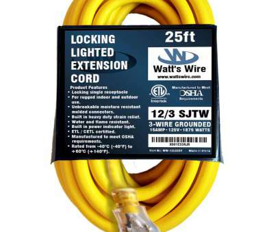 how to wire a light socket to an extension cord ... 12 Gauge 25 foot SJTW 3 Conductor Rugged Duty Lighted Locking Indoor / Outdoor Extension Cord How To Wire A Light Socket To An Extension Cord Practical ... 12 Gauge 25 Foot SJTW 3 Conductor Rugged Duty Lighted Locking Indoor / Outdoor Extension Cord Ideas