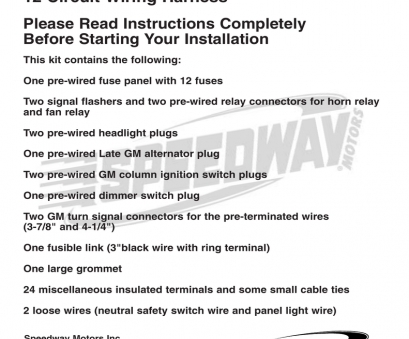 how to wire a light switch 3 black wires instructions, Speedway Motors How To Wire A Light Switch 3 Black Wires Brilliant Instructions, Speedway Motors Ideas