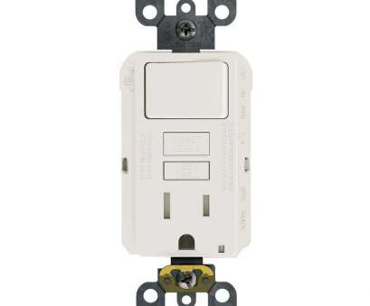 how to wire a light switch and an outlet together Leviton 15, 125-Volt Combo Self-Test Tamper-Resistant GFCI Outlet, Switch, White How To Wire A Light Switch, An Outlet Together Fantastic Leviton 15, 125-Volt Combo Self-Test Tamper-Resistant GFCI Outlet, Switch, White Galleries