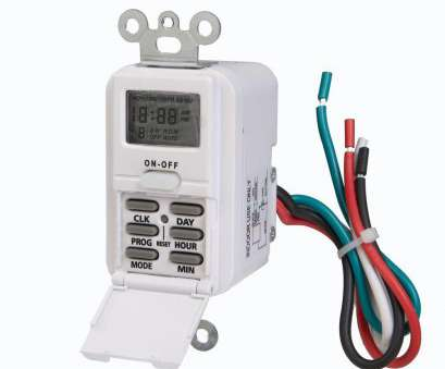 how to wire a light switch timer Westek Digital In-Wall Timer, White How To Wire A Light Switch Timer Popular Westek Digital In-Wall Timer, White Photos