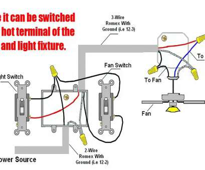 how to wire one light with two switch diagram How To Wire Ceiling, With Light Switch Wiring A, Remote Hunter Fine, Diagram How To Wire, Light With, Switch Diagram Cleaver How To Wire Ceiling, With Light Switch Wiring A, Remote Hunter Fine, Diagram Galleries
