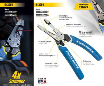 Is 18 Gauge Wire Smaller Than 20 Simple Klein Tools 8, Heavy Duty Wire Stripper, 12-20, Stranded, 10-18, Solid Wire Images