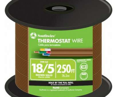 Is 18 Gauge Wire Smaller Than 20 New Shop 250-Ft 18/5 Thermostat Wire (By-The-Roll) At Lowes.Com Ideas