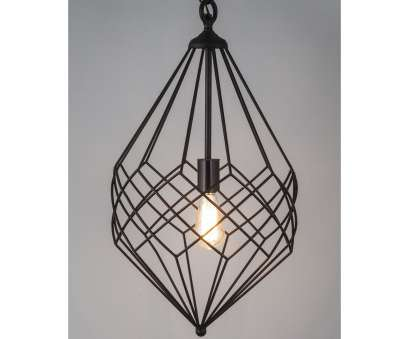 Large Black Wire Pendant Light Fantastic Horizon Small Black Metal Wire 1-Light Pendant (Black Wire Pendant Small) Collections
