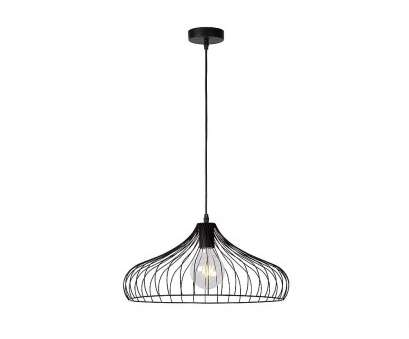 Large Black Wire Pendant Light Most Lucide 02403/45/30 VINTI Modern Industrial Black Wire Large Collections