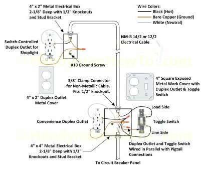 9 Simple Light Switch Wiring With Outlet Images