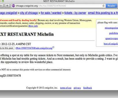 live wire electric atlanta il Craigslist Post Offers Next Season Ticket to Michelin, Eater Live Wire Electric Atlanta Il Fantastic Craigslist Post Offers Next Season Ticket To Michelin, Eater Solutions