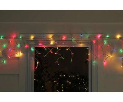 multi colored christmas lights with white wire Set of, Multi-Color Mini Icicle Christmas Lights 3