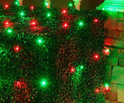 Red Icicle Lights Green Wire Professional 4' X 6', Net Lights -, Red, Green Lamps, Green Wire Images