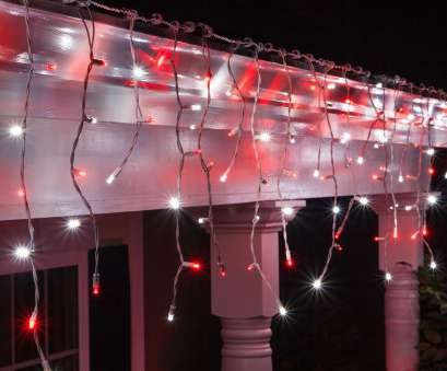 Red Icicle Lights Green Wire Simple Red, Cool White, LED Icicle Lights On White Wire, Wintergreen Corporation, Wintergreen Corporation Pictures