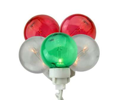 Red Icicle Lights Green Wire Top Set Of, Green,, And White, Globe Icicle Christmas Lights, White Wire, 31741321 Pictures