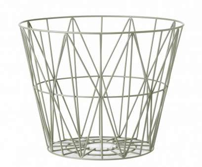 round wire basket with shelves ... contemporary side table / metal / round / with storage compartment 10 Simple Round Wire Basket With Shelves Images