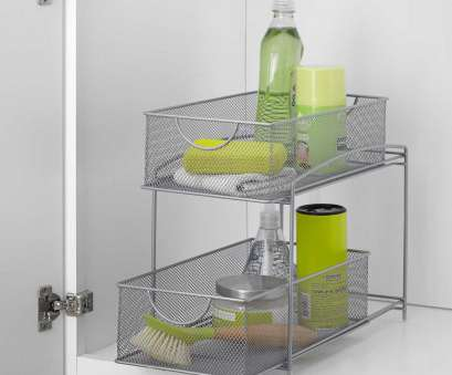 silver wire mesh kitchen cupboard baskets ORG™ Mesh 2-Tier Sliding Cabinet Basket in Silver, Home Decor Silver Wire Mesh Kitchen Cupboard Baskets Best ORG™ Mesh 2-Tier Sliding Cabinet Basket In Silver, Home Decor Galleries