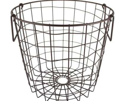 small round wire mesh baskets Amazon.com -, Stackable Metal Utility Storage, for Heavy Duty, In Office, Craft Room, Kitchen, Pantry, or Garage (12x12