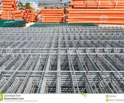 Used Wire Mesh Panels Most Construction Wire Mesh Panel At Warehouse Stock Photo, Image Of Solutions