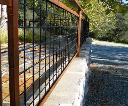 Used Wire Mesh Panels Popular Living Iron:, Wire Fencing With Patina, Landscape Design, Fencing. Will It Keep, Deer? Images