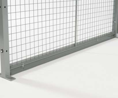 Used Wire Mesh Panels Top ... Used In Line With Panels, Posts To Gain 2