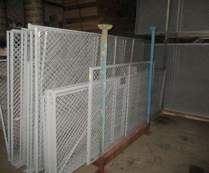 Used Wire Mesh Panels Fantastic Warehouse Fencing Panels / Wire Cages, Used, Welter Storage Pictures