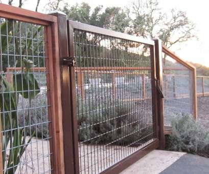 Used Wire Mesh Panels Fantastic Wire Fence With A Steel Gate By Arbor Fence, Inc., Wire Fencing Photos