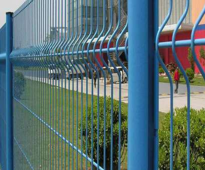 welded wire mesh fence installation Several pieces of blue color 3D security fences, installed in, factory 18 Simple Welded Wire Mesh Fence Installation Ideas