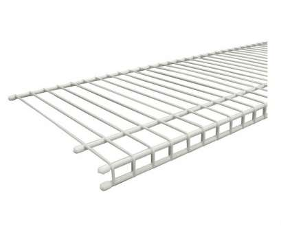 white plastic coated wire shelving ClosetMaid SuperSlide 96, W x 12, D White Ventilated Wire Shelf 9 Most White Plastic Coated Wire Shelving Collections