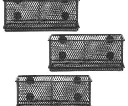 white wire mesh baskets Details about Wire Mesh Magnetic Storage Baskets Office Supply Organizer, of 3 Black White Wire Mesh Baskets Brilliant Details About Wire Mesh Magnetic Storage Baskets Office Supply Organizer, Of 3 Black Images