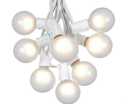 white wire string lights ... Picture of 25, Globe Light String, with Frosted Bulbs on White Wire White Wire String Lights Most ... Picture Of 25, Globe Light String, With Frosted Bulbs On White Wire Pictures