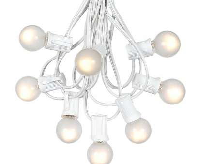 white wire string lights Picture of, G30 Globe String Light, with Frosted White Bulbs on White Wire White Wire String Lights Best Picture Of, G30 Globe String Light, With Frosted White Bulbs On White Wire Collections