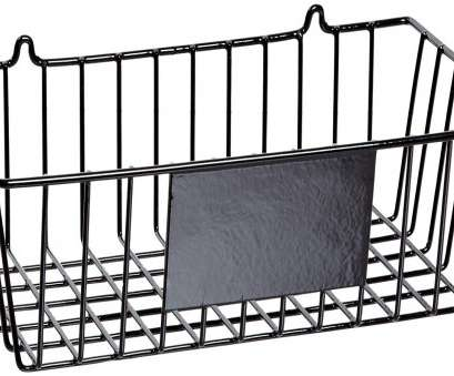 Wire Basket Shelves Uk Cleaver Brady MS-RACK Black Prinzing Wire Basket, Wall Mounting Black (1 Each): Industrial Lockout Tagout Devices: Amazon.Com: Industrial & Scientific Photos