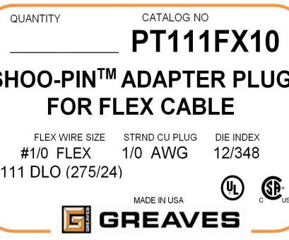 wire chart mm to awg Greaves, PT 111FX10, AWG Flex wire cable adapter Wire Chart Mm To Awg Professional Greaves, PT 111FX10, AWG Flex Wire Cable Adapter Pictures